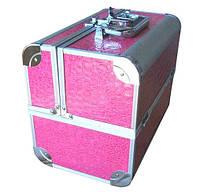 Чемодан металлический раздвижной розовый 2629 YRE