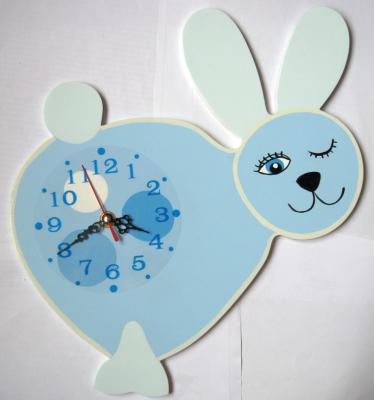 Детские настенные часы «Зайчик-мечтун», Funny Animals