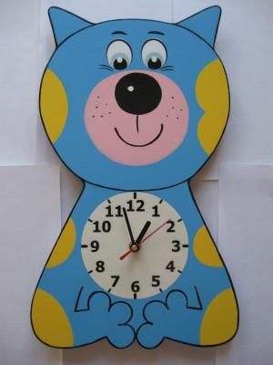 Детские настенные часы «Кот-акробат», Funny Animals