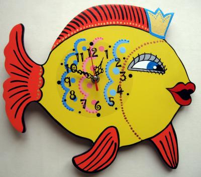 Детские настенные часы «Золотая рыбка», Funny Animals