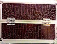Чемодан металлический раздвижной темно-коричневый  2629 YRE