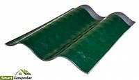 Лист металлополимерного шифера (зеленый), Продается в м²