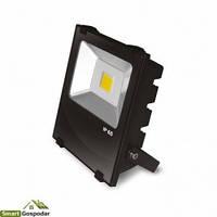 EUROELECTRIC LED COB Прожектор черный с радиатором 30W 6500K modern