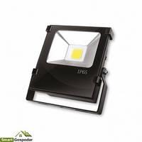 EUROELECTRIC LED COB Прожектор черный с радиатором 20W 6500K modern