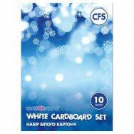 Набір білого картону А5, 10 арк.,  CFS CF21001