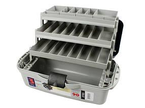 Ящик Aquatech 2703, из полипропилена, 1 большое отделение, 3 выдвижные полки, 10 съемных перегородок, 1,5 кг, фото 2