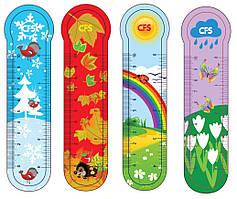 Закладинки пластикові для книг  Seasons  (4шт.)CF69108