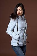 Женская демисезонная куртка. Код модели К-85-36-17. Цвет светло голубой.