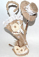 Композиция из мешковины, оригинальный подарок