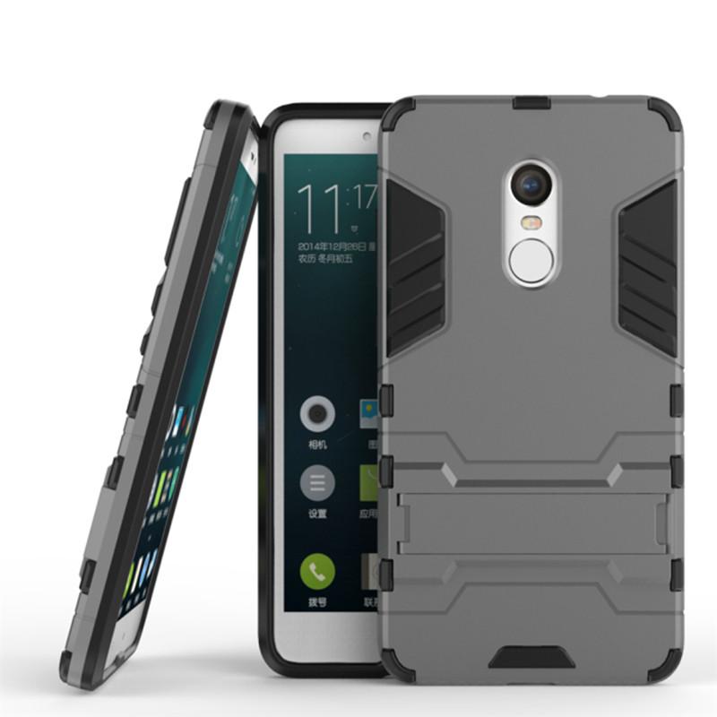 Чехол Iron для Xiaomi Redmi Note 4 / Note 4 Pro бронированный Бампер Броня Gray