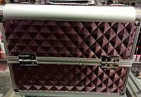 Чемодан металлический раздвижное дно темно бордовый 2629 YRE