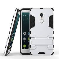 Чехол Iron для Xiaomi Redmi Note 4 / Note 4 Pro бронированный Бампер Броня Silver