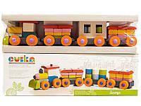 Конструктор деревянный Поезд LP-1 Cubika 11681, фото 1