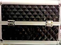 Чемодан металлический раздвижное дно чёрный 2629 YRE
