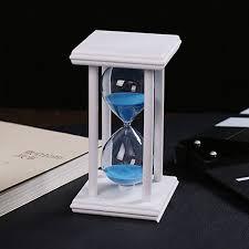 Часы песочные стеклянные 16 см песок синий