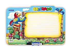 Дошка ламінована для письма COLORADO, дитячий варіант gr.TAB3