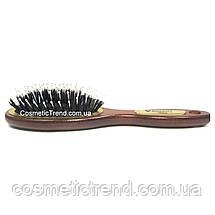 Щетка для волос массажная овальная деревянная со смешанной шетиной Salon Professional 7696CLG, фото 3