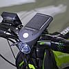 Фонарь велосипедный  с солнечной батареей Solar USB Bicycle Light