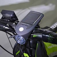 Фонарь велосипедный  с солнечной батареей Solar USB Bicycle Light, фото 1
