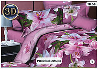 """Комплект постельного белья бязь Тиротекс TD-58 """"Розовые Лилии"""""""