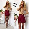 Женская короткая юбка из замша со шнуровкой в расцветках. Оц-1-0317, фото 2