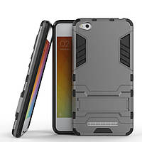 Чехол Iron для Xiaomi Redmi 4a бронированный бампер Броня Gray