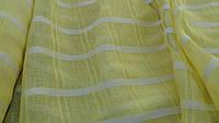 Льняная ткань для штор - желтого цвета (шир. 165 см)