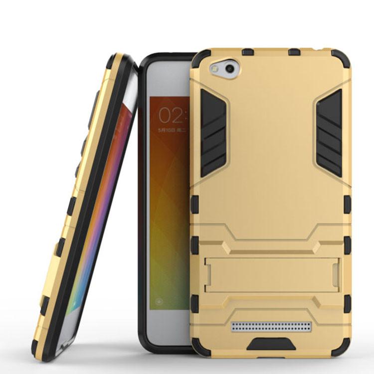 Чехол Iron для Xiaomi Redmi 4a бронированный бампер Броня Gold