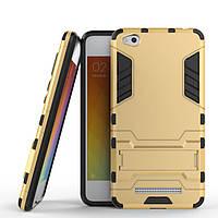 Чехол Iron для Xiaomi Redmi 4a бронированный бампер Броня Gold, фото 1
