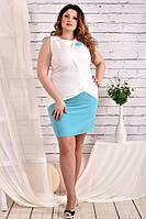 Молодежное платье 0472 голубое 56 размер