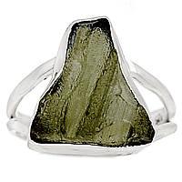 Молдавит, серебро 925, кольцо, 368КМ