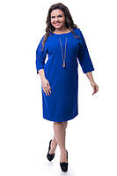 Платье с украшением на груди по 58 размер  ваз454