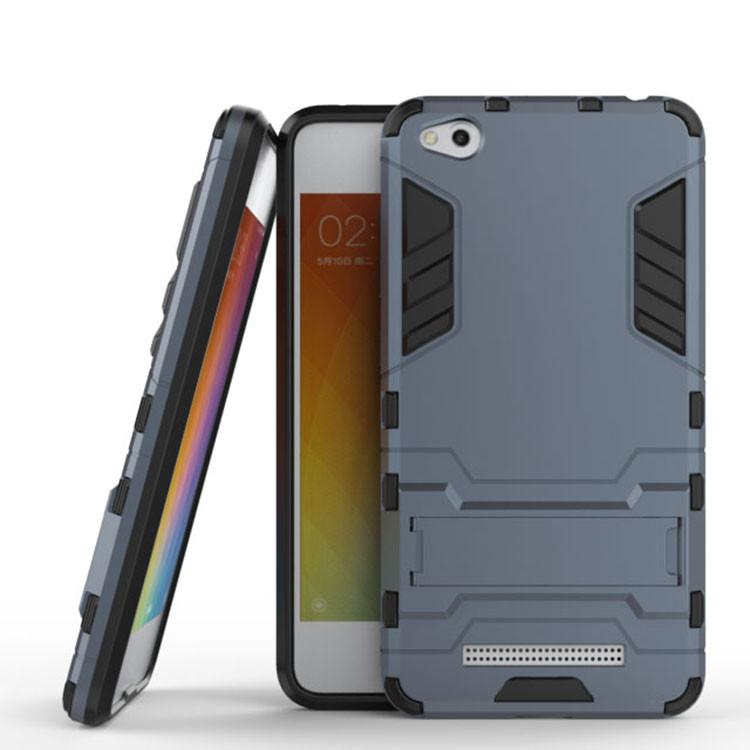 Чехол Iron для Xiaomi Redmi 4a бронированный бампер Броня Dark Blue