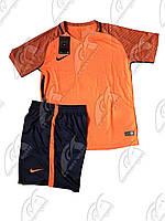 Футбольная форма игровая Nike (Найк оранж\т.синяя)