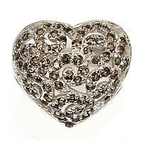 """Сердечное кольцо с раухтопазами """"Сердечко"""" , размер 18.2 от студии LadyStyle.Biz"""