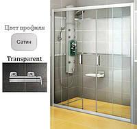Дверь душевая Ravak BLDP4-160 Transparent+Satin, фото 1