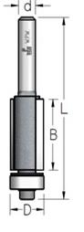 Фреза  обгонная с нижним подшипником WPW, D = 12,7 мм; В = 42 мм; хвостовик = 8 мм.