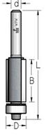 Фреза  обгонная с нижним подшипником WPW, D = 12,7 мм; В = 38 мм; хвостовик = 12 мм.