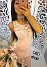 Женское платье с набивным гипюром в расцветках. Оц-8-0317, фото 2