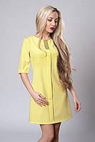 Платье молодежное . Код 281-6,желтое, размеры 44,46,48, фото 1