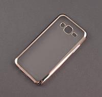 Чехол TPU Remax для Samsung Galaxy J5 2015 J500h прозрачный серебристый хром