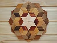 Деревянная подставка под горячее 20 см, шестиугольная