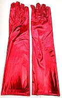 Перчатки длинные карнавальные красные, фото 1