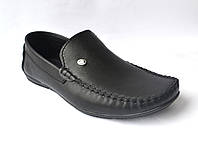 Большой размер. Мокасины мужские кожаные натуральные Rosso Avangard BS M4 Black