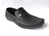 Мужские мокасины кожаные черные стильные обувь больших размеров Rosso Avangard BS M4 Black, фото 1