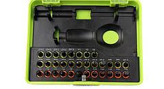 Отвертка с трещеткой и удлинителем +31 бита