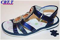 Детская летняя обувь.Кожаные босоножки для девочек от фирмы Meekone B516-2 (12/6 пар 26-31)