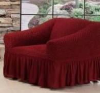 Натяжной чехол для кресла Burumcuk бордовый