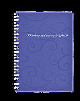 Книжка для записів на пружині Barocco А6, 80 арк, кл., фіолетовий, пласт.обкл.BM.2589-607