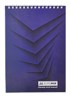 Блокнот на пружині зверху , А-5, 48 арк, клітинка, JOBMAX, картонна обкладинка, синійBM.2474-02